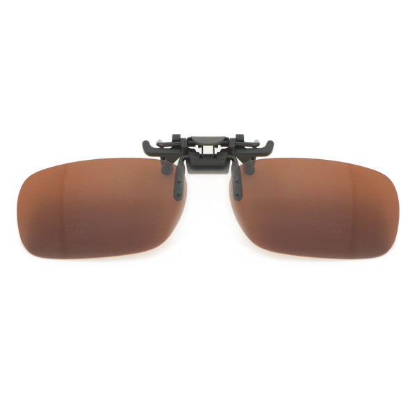 HKUCO Polarized Brown Clip-on Flip-up Sunglasses Lenses
