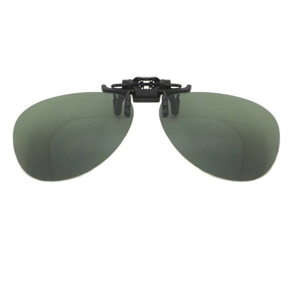 HKUCO Polarized Frog Mirror-Cyan Clip-on Flip-up Sunglasses Lenses