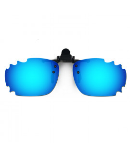 HKUCO Sunglasses Clip Blue Polarized Lenses For Myopia Frame Clip Polarized Lenses UV400 Protect