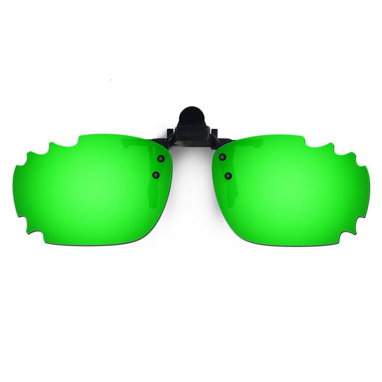 HKUCO Sunglasses Clip Green Polarized Lenses For Myopia Frame Clip Polarized Lenses UV400 Protect WRDwBct