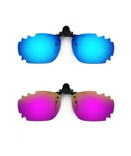 HKUCO Sunglasses Clip Blue/Purple Polarized Lenses For Myopia Frame Clip Polarized Lenses UV400 Protect