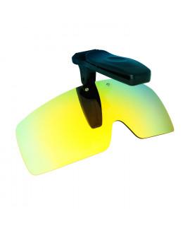 HKUCO Sunglasses Clip 24K Gold Polarized Lenses Hat Visors Clip-on Sunglasses For Fishing/Biking/Hiking/Golf UV400 Protect