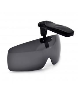 HKUCO Sunglasses Clip Black Polarized Lenses Hat Visors Clip-on Sunglasses For Fishing/Biking/Hiking/Golf UV400 Protect