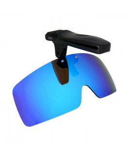 HKUCO Sunglasses Clip Blue Polarized Lenses Hat Visors Clip-on Sunglasses For Fishing/Biking/Hiking/Golf UV400 Protect