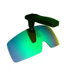 HKUCO Sunglasses Clip Green Polarized Lenses Hat Visors Clip-on Sunglasses For Fishing/Biking/Hiking/Golf UV400 Protect