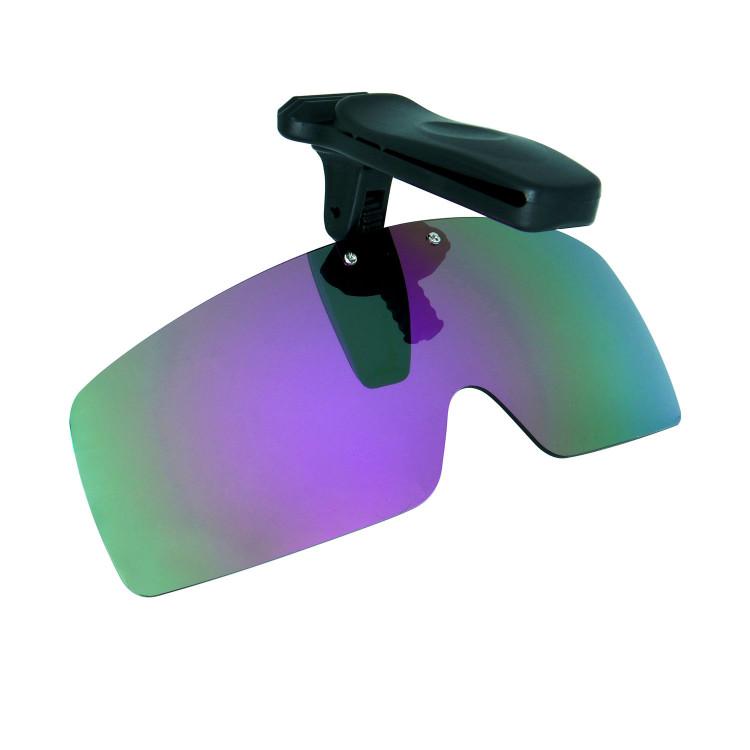 d12b71d4e7f HKUCO Sunglasses Clip Purple Polarized Lenses Hat Visors Clip-on Sunglasses  For Fishing Biking Hiking Golf UV400 Protect