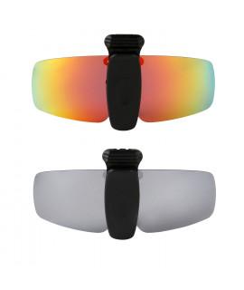 HKUCO Sunglasses Clip Red/Titanium Polarized Lenses Hat Visors Clip-on Sunglasses For Fishing/Biking/Hiking/Golf UV400 Protect