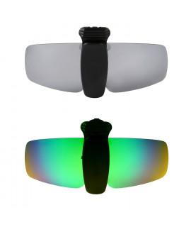 HKUCO Sunglasses Clip Titanium/Emerald Green Polarized Lenses Hat Visors Clip-on Sunglasses For Fishing/Biking/Hiking/Golf UV400 Protect
