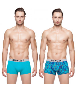 Hkuco Diswizzy Men's Underwear Style Blue And Octopus Printing Style 2-Pack