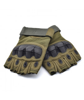 HKUCO Army Green Outdoor Sports Half Finger For Riding/Climbing/Training/Tactical Gloves /Cycling Antiskid Gloves