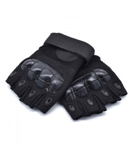 HKUCO Black Outdoor Sports Half Finger For Riding/Climbing/Training/Tactical Gloves /Cycling Antiskid Gloves