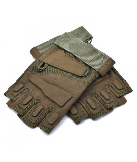 HKUCO Army Green Cycling Antiskid Gloves  Half Finger For Riding/Climbing/Training/Tactical Gloves/Outdoor Sports