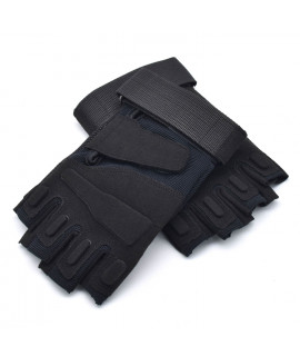 HKUCO Black Cycling Antiskid Gloves  Half Finger For Riding/Climbing/Training/Tactical Gloves/Outdoor Sports