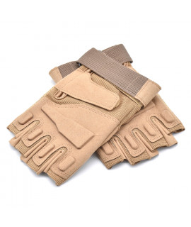 HKUCO Light Brown Cycling Antiskid Gloves  Half Finger For Riding/Climbing/Training/Tactical Gloves/Outdoor Sports