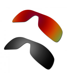 HKUCO Red+Black Polarized Replacement Lenses For Oakley Antix Sunglasses