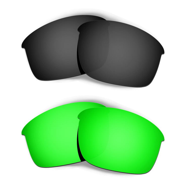 e684153a5a Hkuco Mens Replacement Lenses For Oakley Bottle Rocket Black Emerald Green  Sunglasses