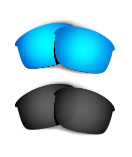 Hkuco Mens Replacement Lenses For Oakley Bottle Rocket Sunglasses Blue/Black Polarized