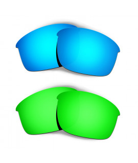 Hkuco Mens Replacement Lenses For Oakley Bottle Rocket Blue/Green Sunglasses