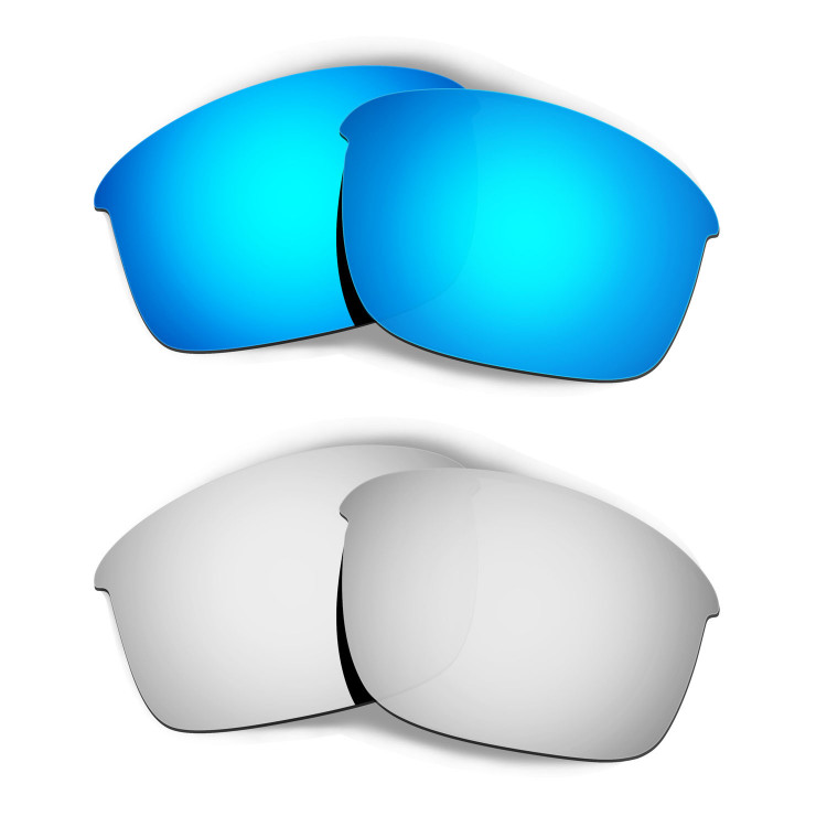 d2488ab8d7 Hkuco Mens Replacement Lenses For Oakley Bottle Rocket Blue Titanium  Sunglasses