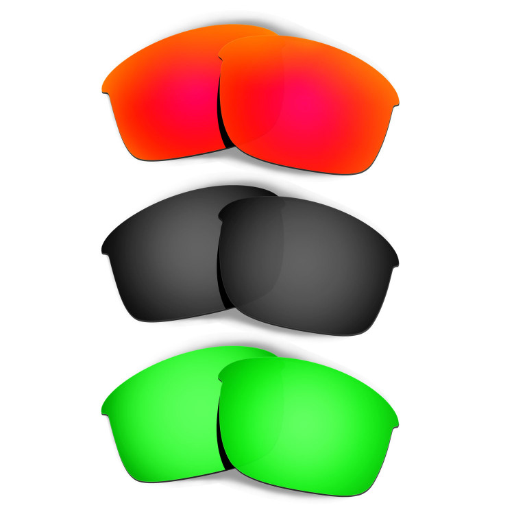 ce3ccf04b0 Hkuco Mens Replacement Lenses For Oakley Bottle Rocket Red Black Emerald  Green Sunglasses