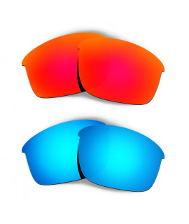 Hkuco Mens Replacement Lenses For Oakley Bottle Rocket Red/Blue Sunglasses