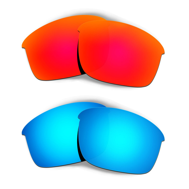 966be1ec00 Hkuco Mens Replacement Lenses For Oakley Bottle Rocket Red Blue Sunglasses