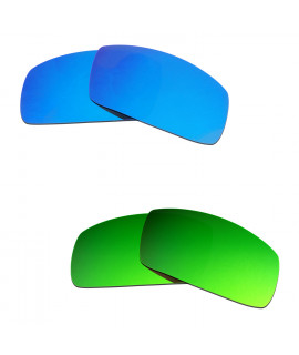 Hkuco Mens Replacement Lenses For Oakley Canteen (2006) Blue/Green Sunglasses