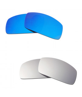Hkuco Mens Replacement Lenses For Oakley Canteen (2006) Blue/Titanium Sunglasses