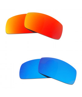 Hkuco Mens Replacement Lenses For Oakley Canteen (2006) Red/Blue Sunglasses