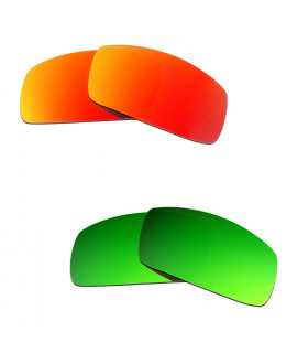 Hkuco Mens Replacement Lenses For Oakley Canteen (2006) Red/Emerald Green Sunglasses