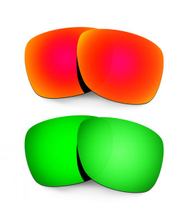 Hkuco Mens Replacement Lenses For Oakley Catalyst Red/Emerald Green Sunglasses