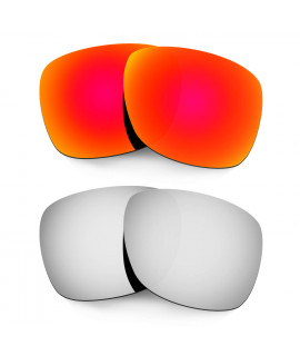Hkuco Mens Replacement Lenses For Oakley Catalyst Red/Titanium Sunglasses