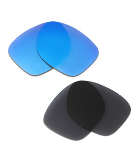 HKUCO Blue+Black Polarized Replacement Lenses for Oakley Catalyst Sunglasses
