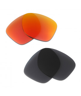 HKUCO Red+Black Polarized Replacement Lenses for Oakley Catalyst Sunglasses