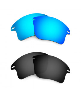 HKUCO Blue+Black Polarized Replacement Lenses for Oakley Fast Jacket XL Sunglasses