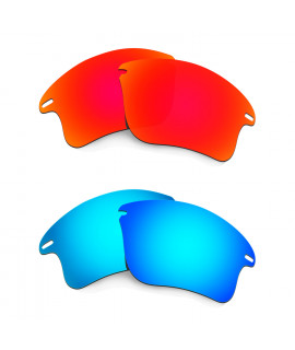 HKUCO Red+Blue Polarized Replacement Lenses for Oakley Fast Jacket XL Sunglasses