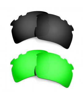 Hkuco Mens Replacement Lenses For Oakley Flak 2.0 XL-Vented Black/Emerald Green Sunglasses
