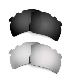 Hkuco Mens Replacement Lenses For Oakley Flak 2.0 XL-Vented Black/Titanium Sunglasses