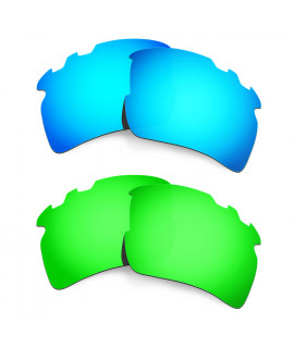 Hkuco Mens Replacement Lenses For Oakley Flak 2.0 XL-Vented Blue/Green Sunglasses
