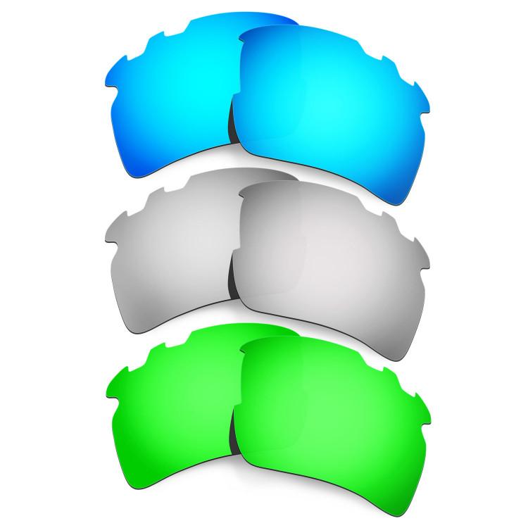 296228af528 Hkuco Mens Replacement Lenses For Oakley Flak 2.0 XL-Vented  Blue Titanium Emerald Green Sunglasses