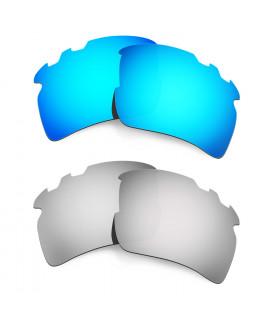 Hkuco Mens Replacement Lenses For Oakley Flak 2.0 XL-Vented Blue/Titanium Sunglasses