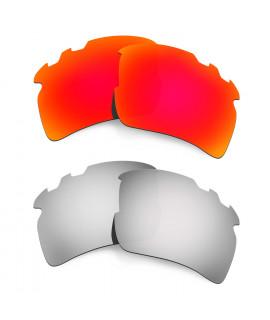 Hkuco Mens Replacement Lenses For Oakley Flak 2.0 XL-Vented Red/Titanium Sunglasses