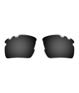 HKUCO Black Polarized Replacement Lenses For Oakley Flak 2.0 XL-Vented Sunglasses