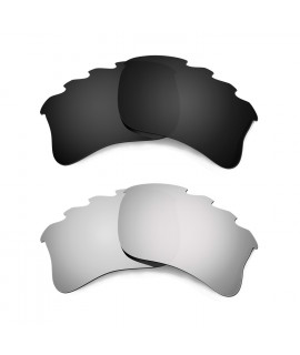 Hkuco Mens Replacement Lenses For Oakley Flak Jacket XLJ-Vented Black/Titanium Sunglasses