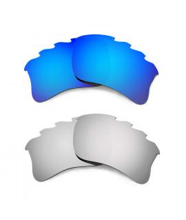 Hkuco Mens Replacement Lenses For Oakley Flak Jacket XLJ-Vented Blue/Titanium Sunglasses