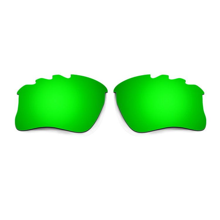 b38e6e85590 Hkuco Mens Replacement Lenses For Oakley Flak Jacket XLJ-Vented Red Emerald  Green Sunglasses