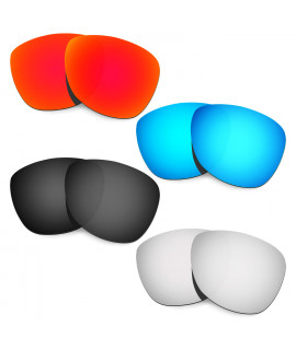 HKUCO Red+Blue+Black+Titanium Mirror Polarized Replacement Lenses For Oakley Frogskins Sunglasses