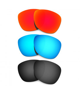 HKUCO Red+Blue+Black Polarized Replacement Lenses For Oakley Frogskins Sunglasses