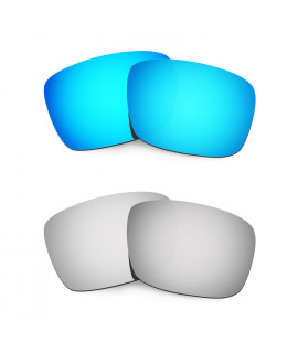 Hkuco Mens Replacement Lenses For Oakley Fuel Cell Blue/Titanium Sunglasses