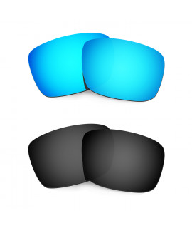 HKUCO Blue+Black Polarized Replacement Lenses For Oakley Fuel Cell Sunglasses